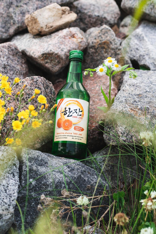 Hanjan Korean Soju in Mandarin Orange