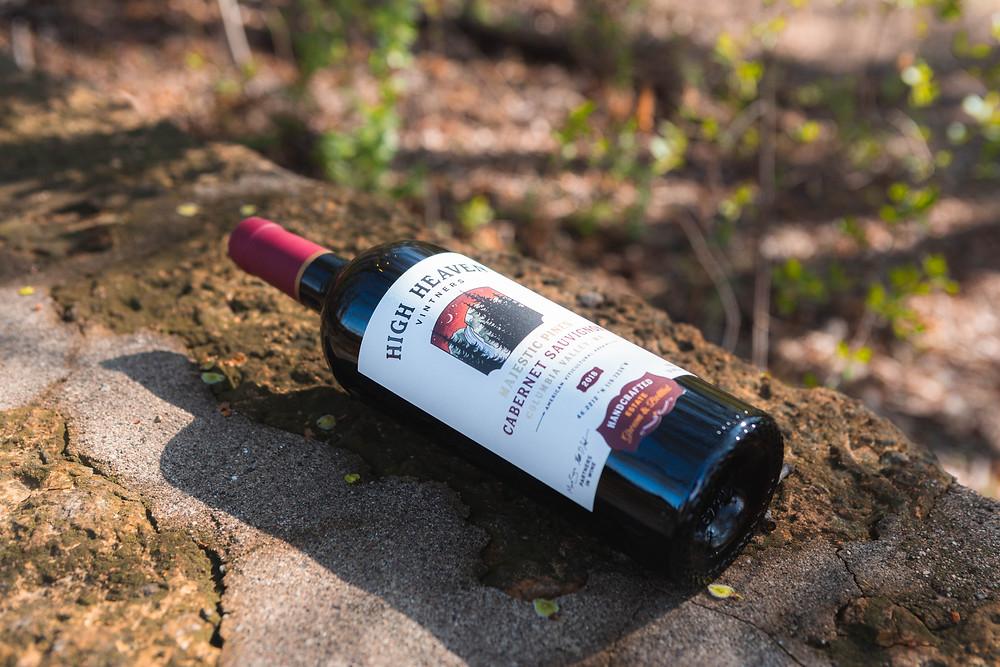 A pristine bottle of High Heaven Cab Sauv