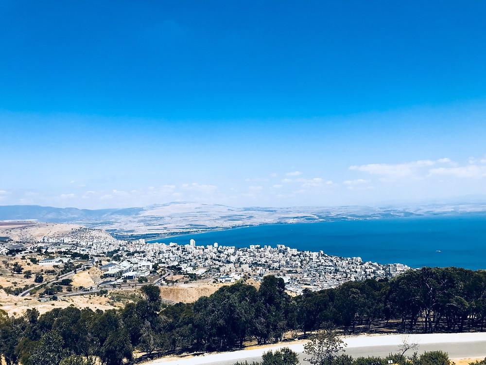 Wide shot overlooking Israel