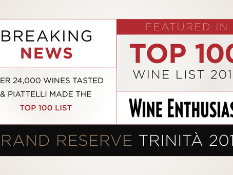 Trinità in the Wine Enthusiast TOP 100!