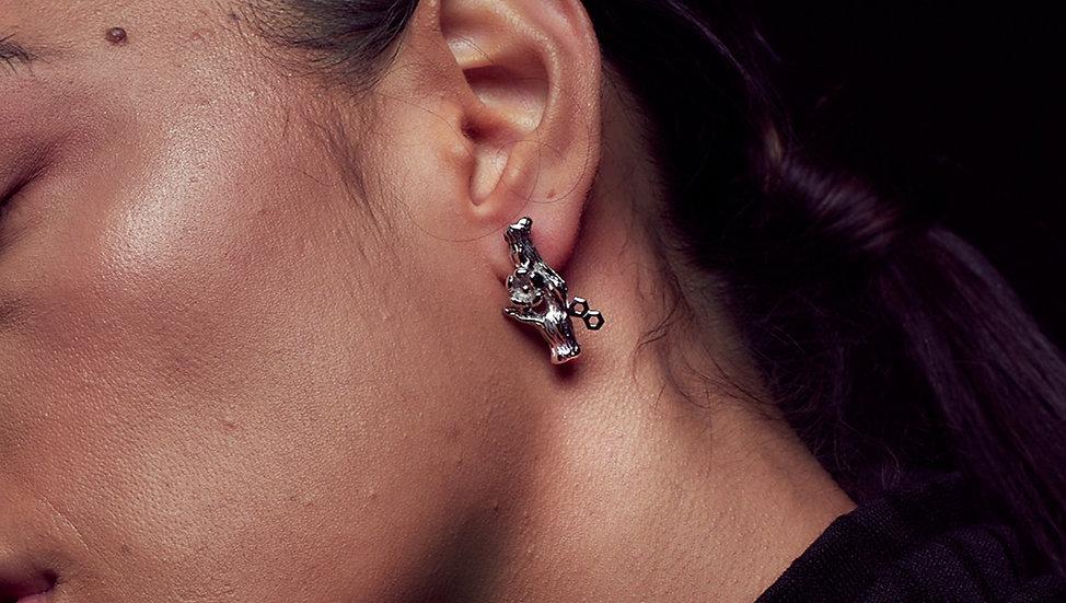 Hex blossom earring -Pre order
