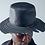 Thumbnail: Grey logo cut leather hat