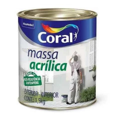 MASSA ACRILICA CORAL BRANCO 1.5KG