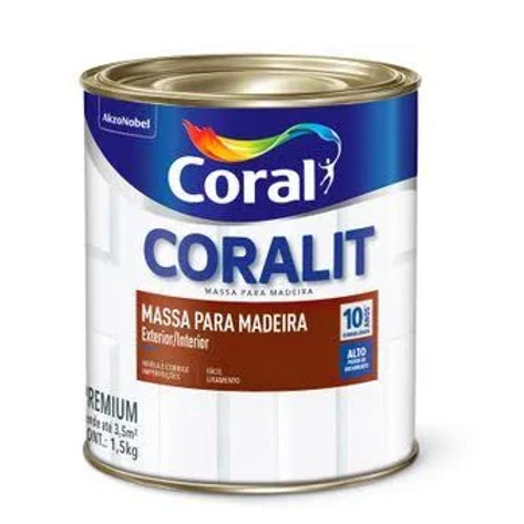 MASSA PARA MADEIRA  BCO 1,5KG CORALIT