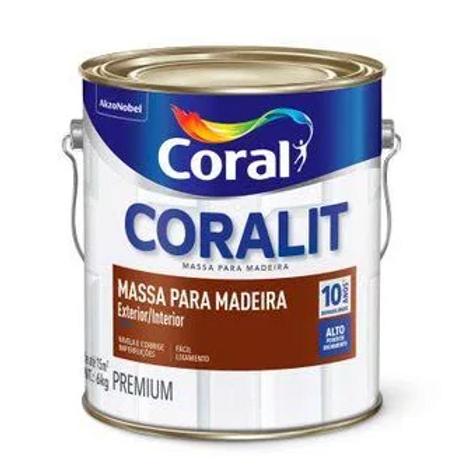 MASSA PARA MADEIRA BCO 6,0KG CORALIT