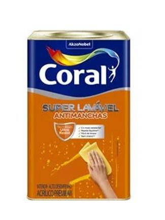 Coral Acrílico Super Lavável Anti Manchas 18 litros - Branco Neve
