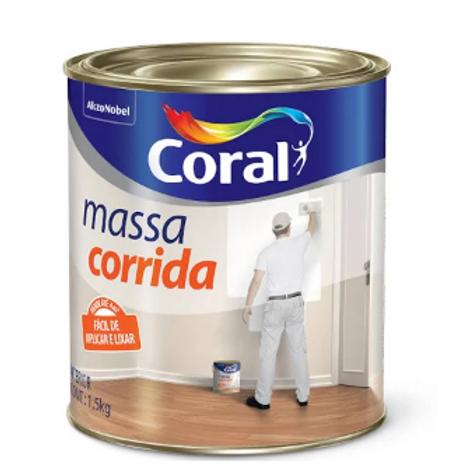 MASSA CORRIDA CORAL BRANCO 1,5KG