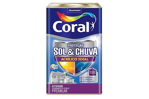 ACRIL TOTAL CORAL SOL & CHUVA BRANCO 18L