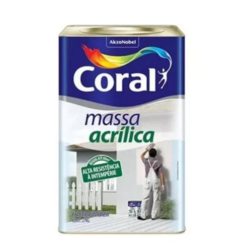 MASSA ACRÍLICA  CORAL BRANCO 25kg