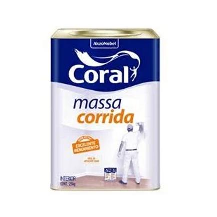 MASSA CORRIDA CORAL BRANCO 25 KG