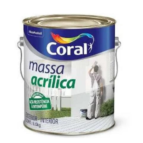 MASSA ACRILICA CORAL  BRANCO 6.0KG