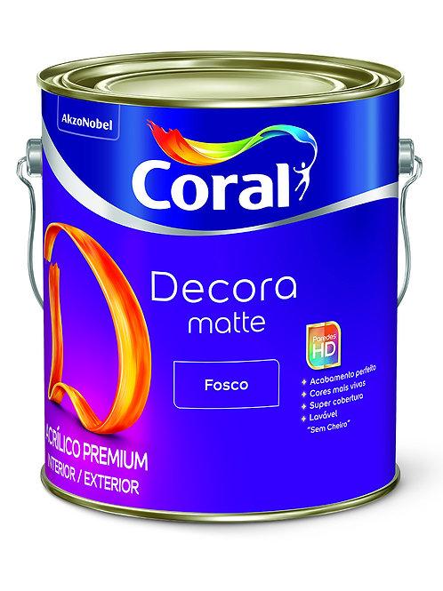 ACRIL DECORA MATTE FOSCO BRANCO 3.6L