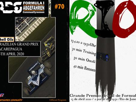 rF2-CR 70 - Live | F1 1986 @Jacarepagua 1988