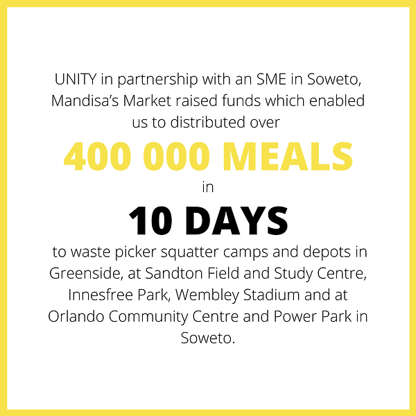 Impact 400000 meals in 10 days