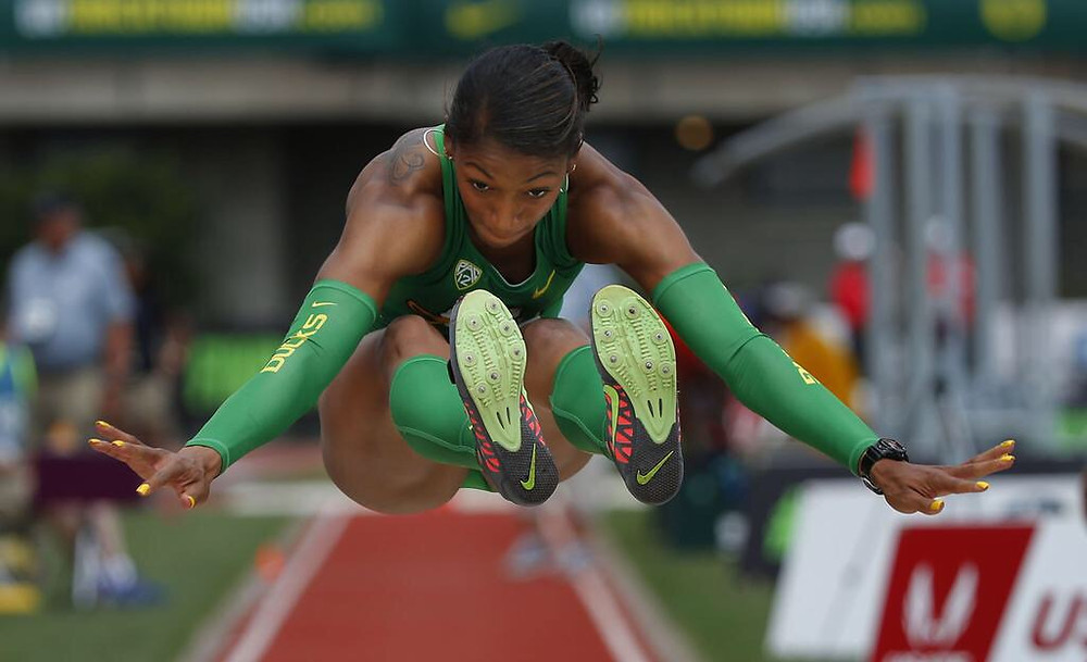 Oregon Alumni Long Jumper Jasmine Todd