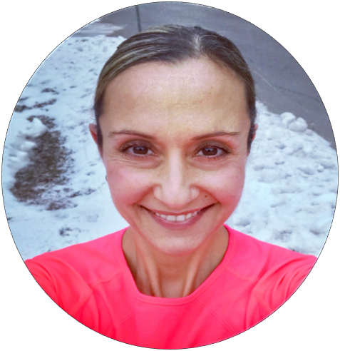 smiling woman fit Marathoner and Motivator Angela Maciocia