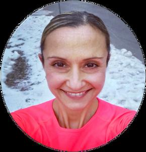 smiling woman fit Marathoner and Motivator Angela Maciocia