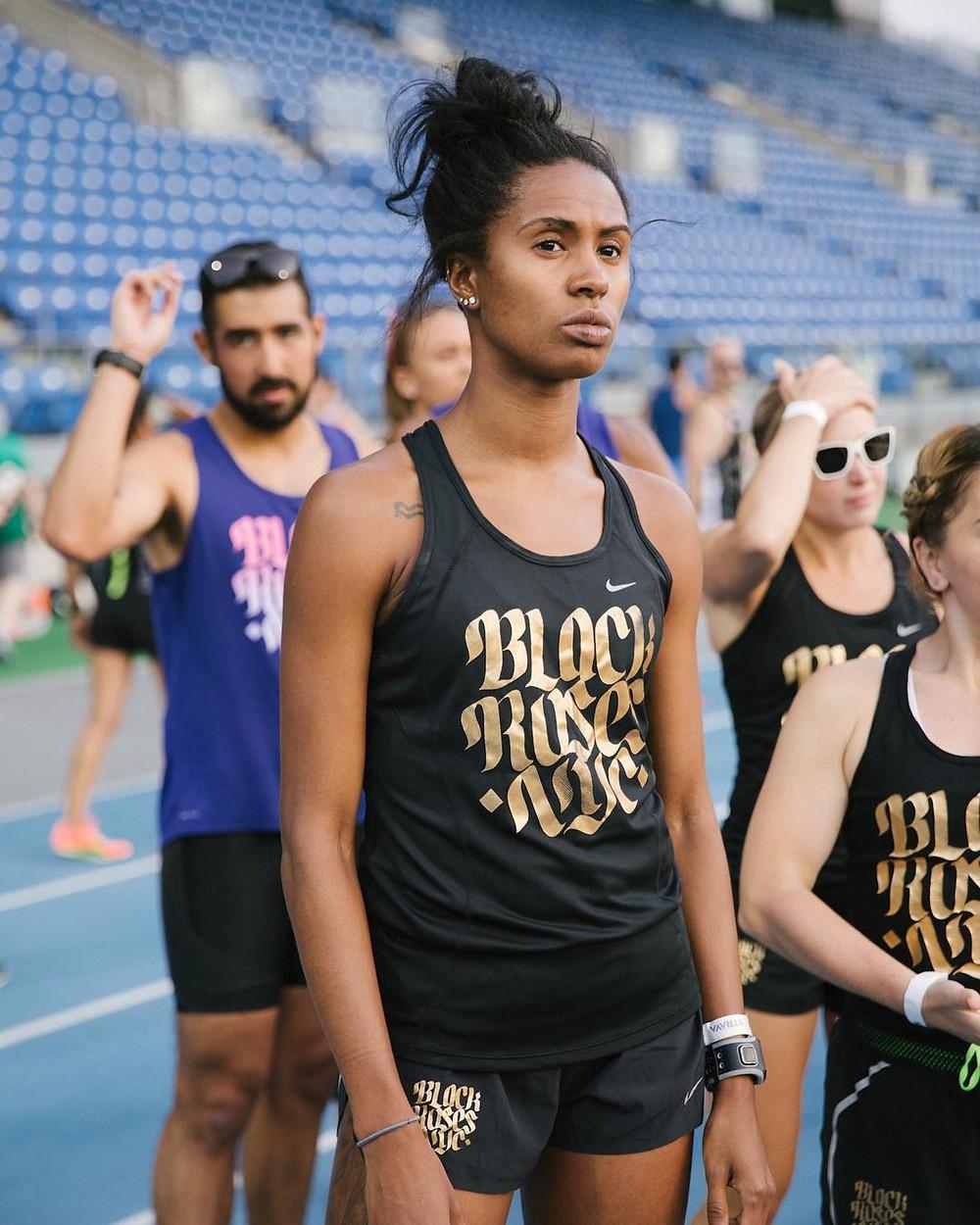 Danielle Macneilly marathon runner black roses running club nyc