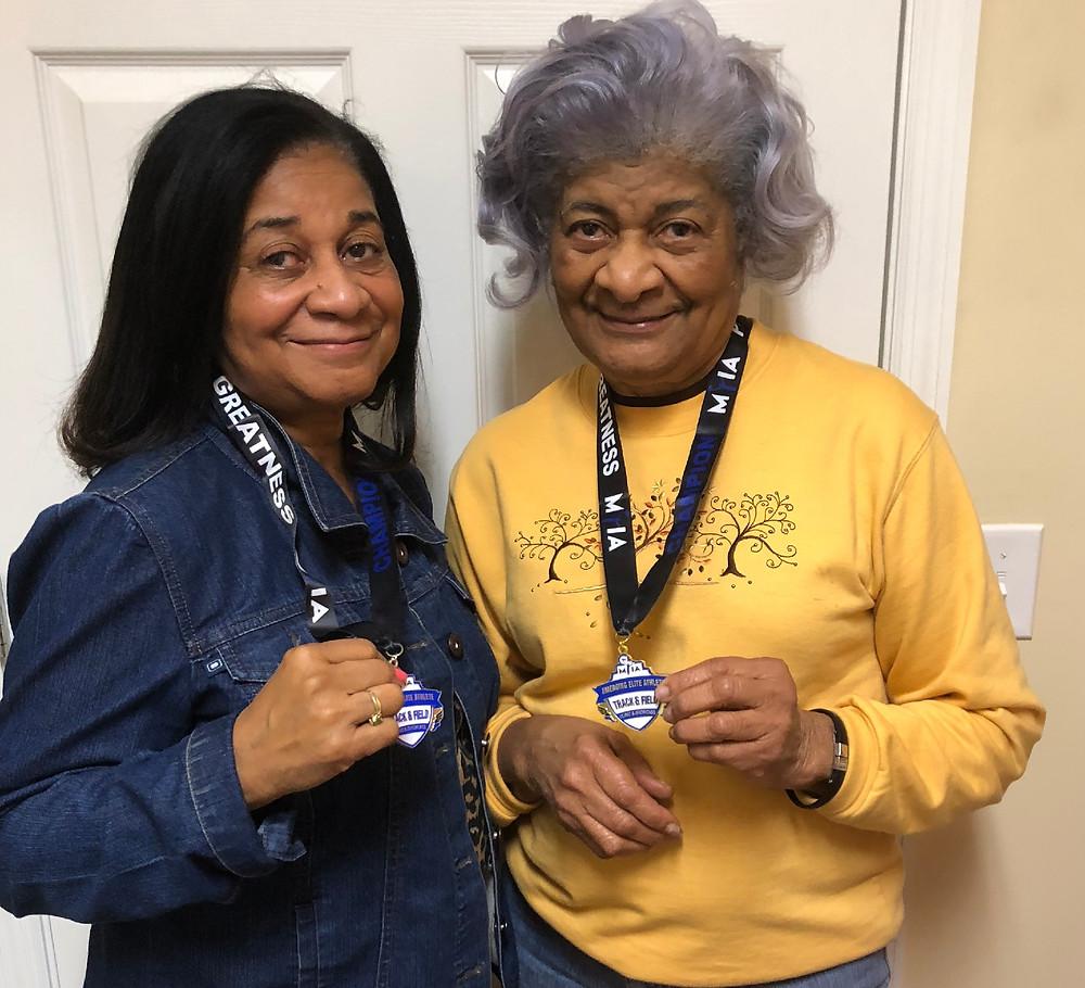 Senior Athletes USATF Christine Davis and Mable Sager