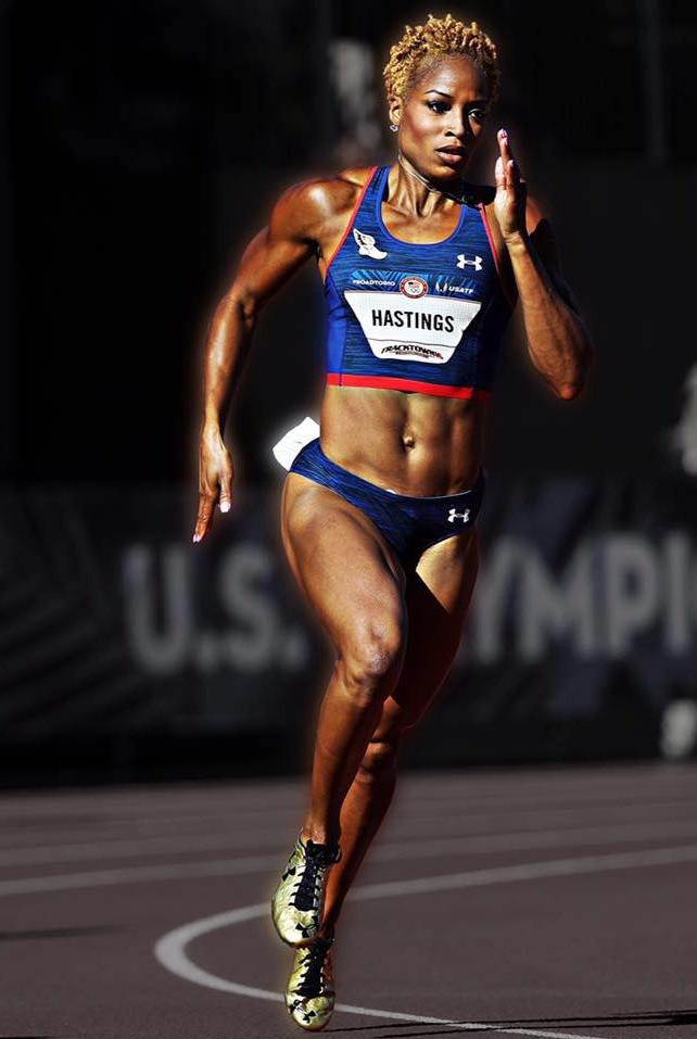 Olympian Natasha Hastings