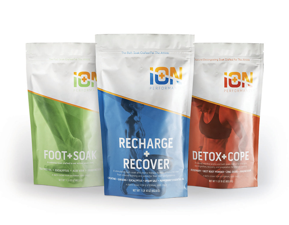 iON performance magnesium muscle soaks, foot soak and detox