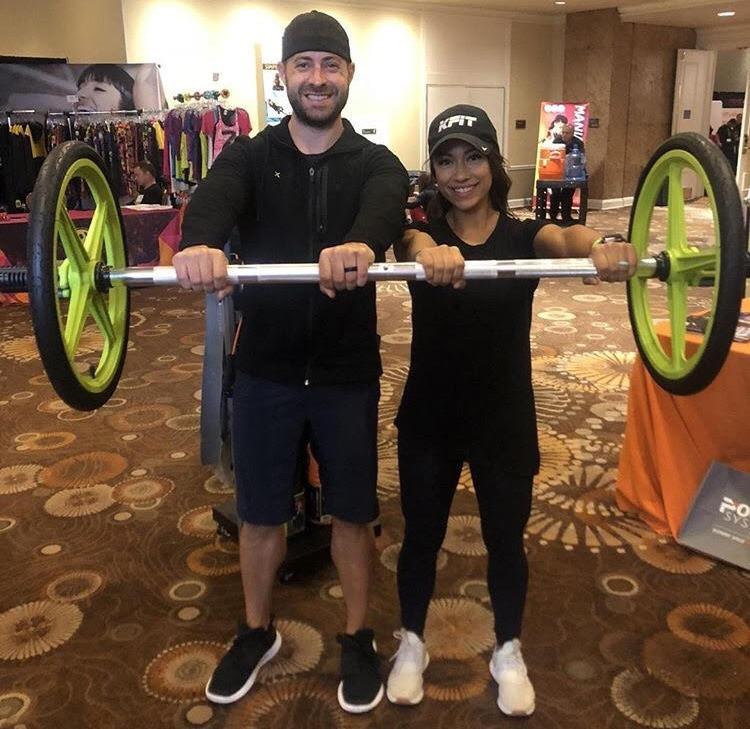 Trainer Kris Claborn at Sara City PHiladelphia Mania