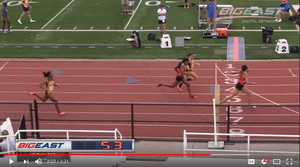 Pariis Garcia winning 2015 Big East Championship track