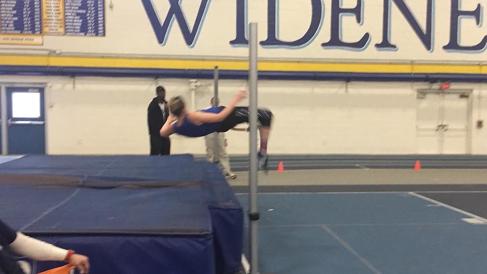 Masters High jumper Erin Macminn