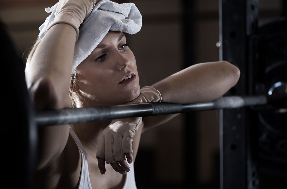 recovering athlete female weightlifter