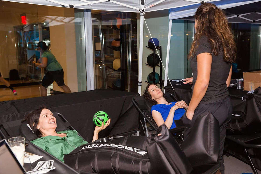 Normatec recovery clietns with danielle in nyc