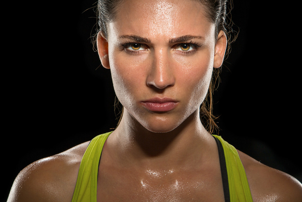 focused fitness pro woman athlete