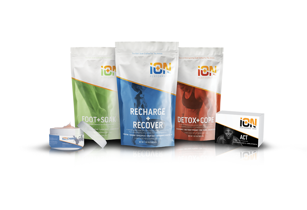 ion performance care personal care for the athlete bath soak detox soak foot care and muscle rub
