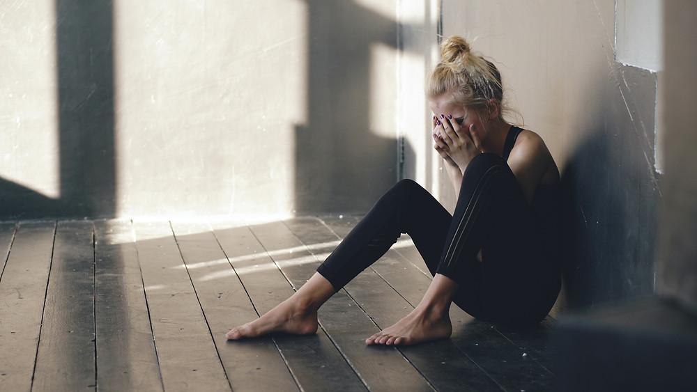 dancer in pain