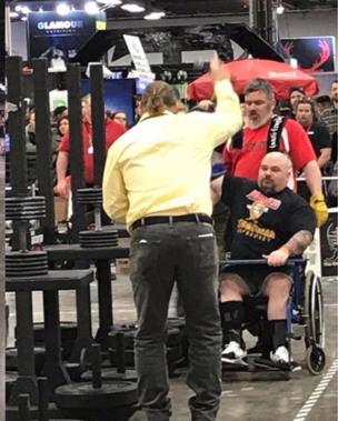 Disabled Strongman Billy the Rhino Petrinczyk at Arnold Classic