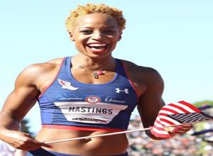 Olympian 400m runner Track Star Natasha Hastings