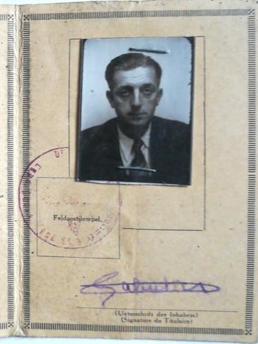 Laissez-passer fourni par l'armée allemande. Verso. Source : archives privées
