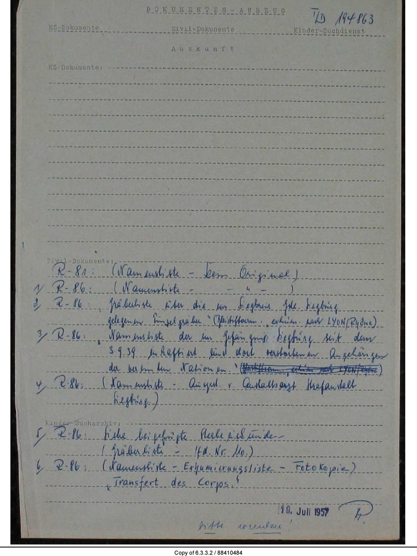 Source : Archives Arolsen