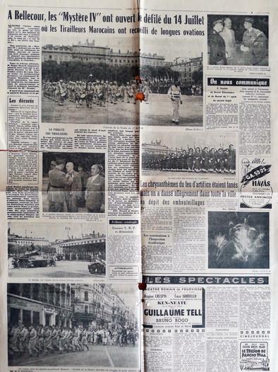 La vie lyonnaise. Lundi 15 juillet 1957.