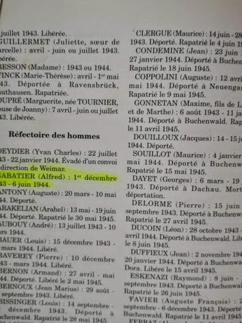 Source : Montluc - Antichambre de l'inconnu, 1942-1944 Bruno Permezel, Collectif, décembre 1999, 296 pages