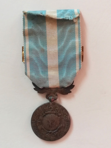 Médaille Coloniale Maroc 1925 attribuée à Alfred Sabatier. Revers.