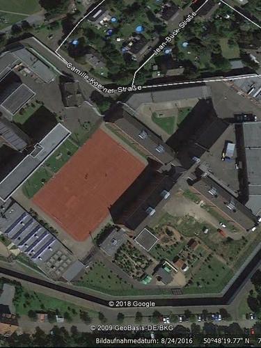 Vue aérienne de la prison de Siegburg