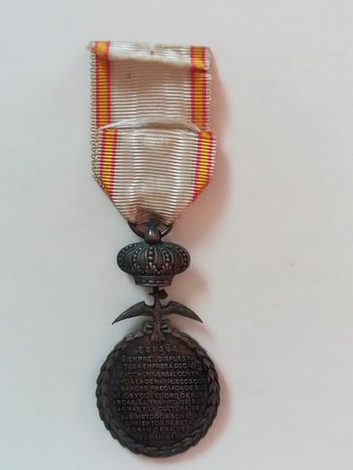 Médaille de la Paix du Maroc attribuée en 1928 à Alfred Sabatier. Revers.