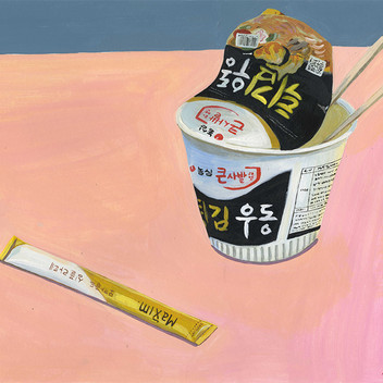 Still life with instant noodles