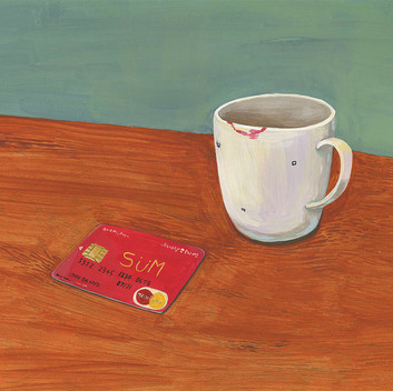 Still life with card