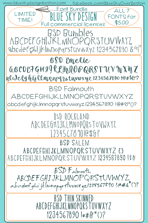 BSD Font Bundle