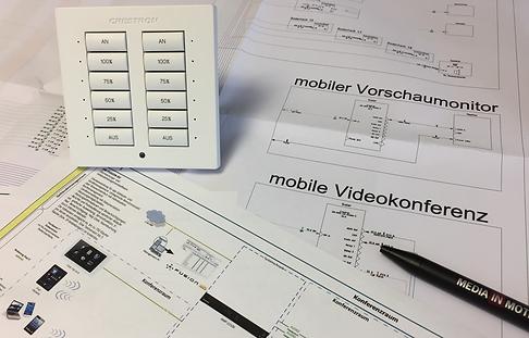 Konzeptionelle und professionelle Planung, sowie Dokumentation der Medientechnik