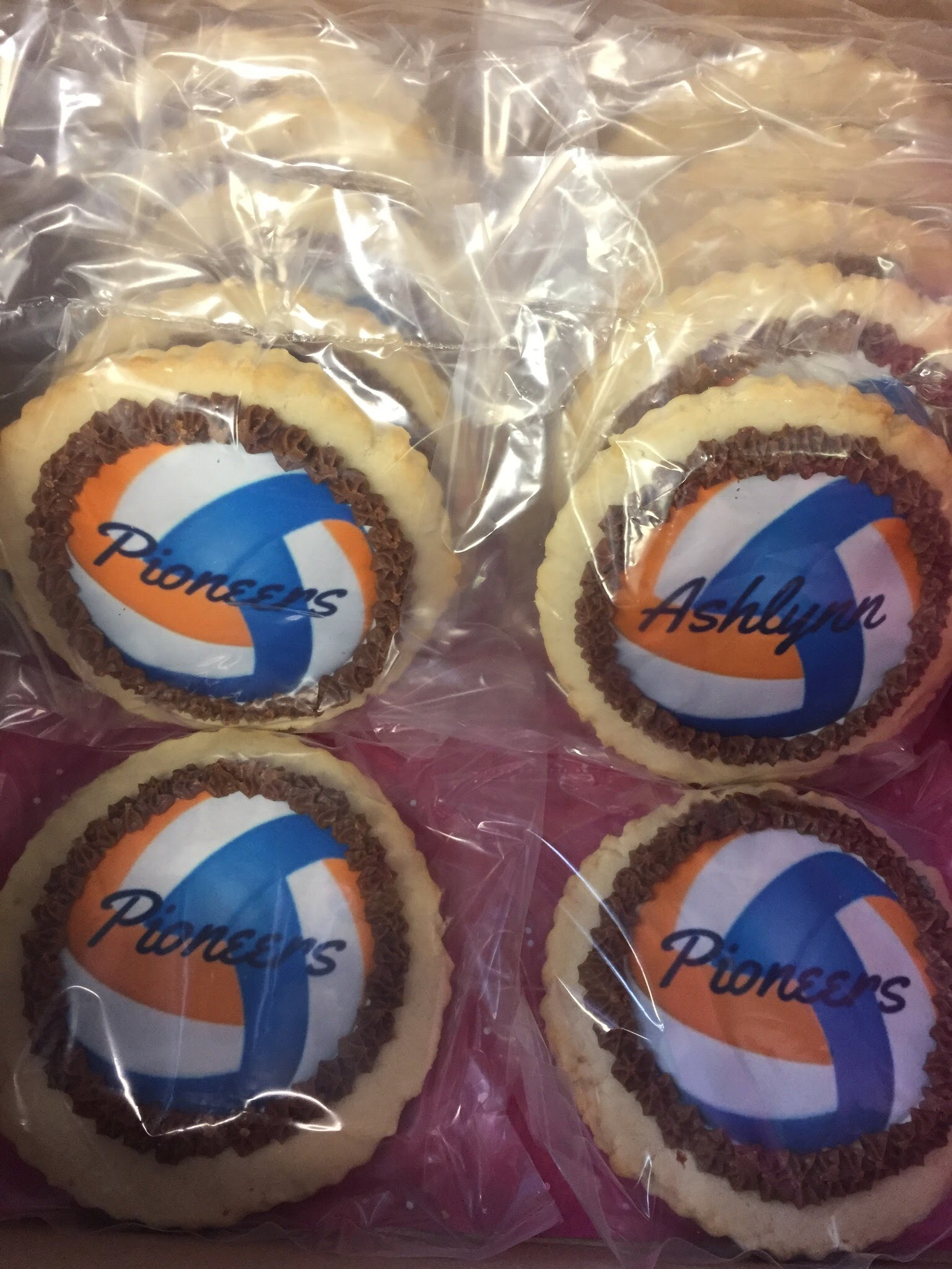 Volleyball Ball Cookies