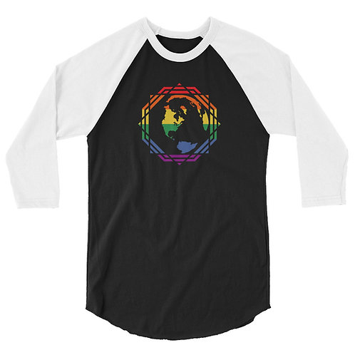 Men's 3/4 Sleeve Shirt Multi-Color Sacred Geometry Earth