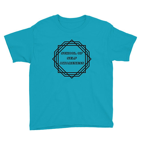 Boy's T-Shirt Black Sacred Geometry Self-Awareness