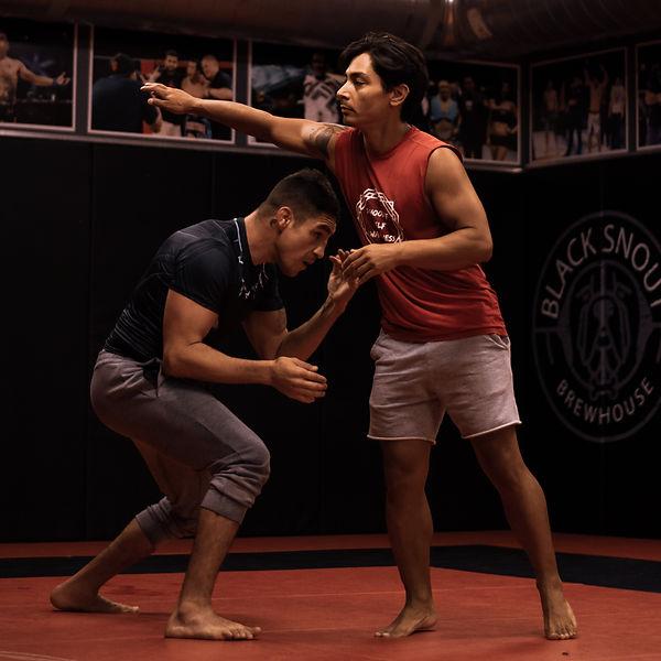 Joshua Fabia and Diego Sancez training at Jackson Wink